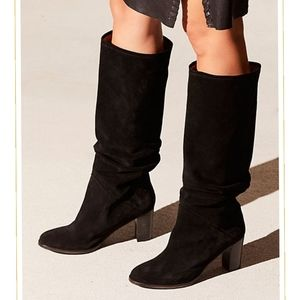 Free People Tennison Suede Leather Tall Boots